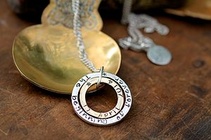 Gold And Silver Into You Necklace - jewellery