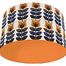 Orange Tulips Retro Designer Drum Lampshade