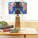Blue And Hot Pink Floral Designer Lampshade
