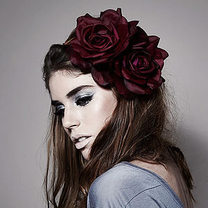 Arabella Floral Crown Fascinator Headband - bridesmaid fashion
