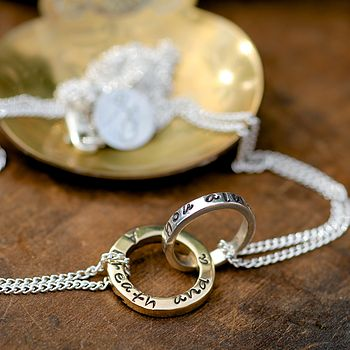 Gold And Silver Infinity Necklace