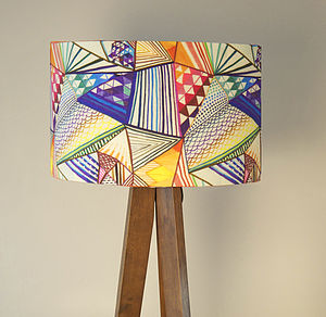 Modern Geometric Handmade Drum Lampshade - lighting