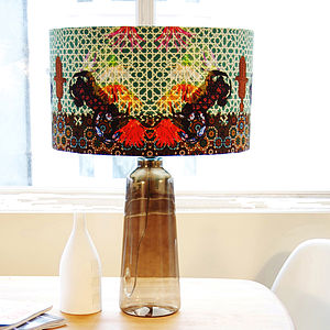Stunning Arabesque Designer Drum Lampshade - lamp bases & shades