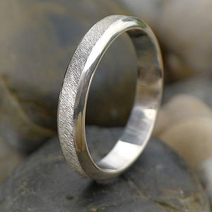 Diamond Cut Textured Sterling Silver Ring - rings