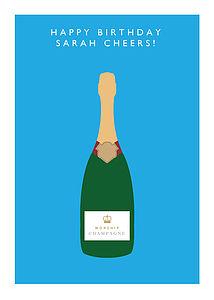 'Worship Champagne' Personalised Card