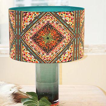 Kaleidoscope Retro Handmade Drum Lampshade