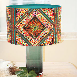 Kaleidoscope Retro Handmade Drum Lampshade - lighting