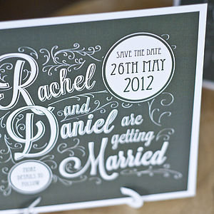 20 Oxford Wedding Save The Dates - wedding stationery