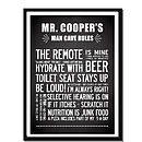 Man Cave Rules, Father's Day Print Personalised