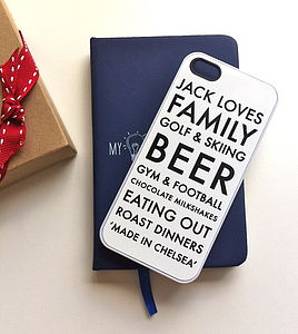 Personalised Black And White iPhone Case - tech accessories for him