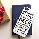 Personalised Black And White iPhone Case