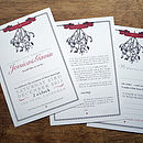 Mistletoe Wedding Stationery Range