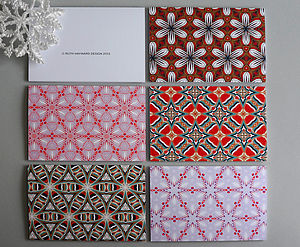 A Pack Of Five Assorted Christmas Cards - cards