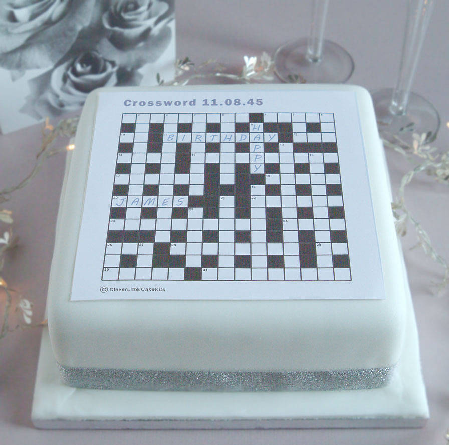 Cake Decoration Crossword Clue : personalised crossword cake decorating kit by clever ...
