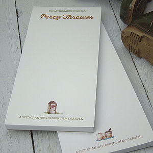 Personalised 'From The Garden Shed Of…' Notepad