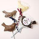 Handmade Premium Chocolate Lollipop Birds