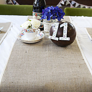 Hessian And Satin Table Runner