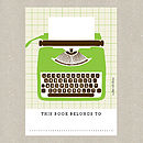 Green Typewriter Bookplates