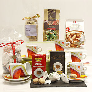 Orange Cappuccino Cups Gift Set - cups & saucers