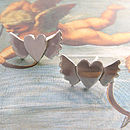 Sterling Silver Heart And Wings Earrings