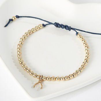 Gold Filled Wishbone Friendship Bracelet