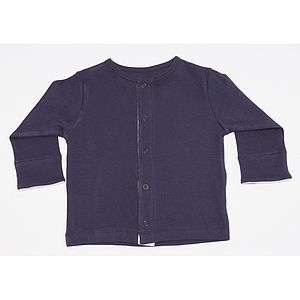 Organic Navy Cardigan - clothing