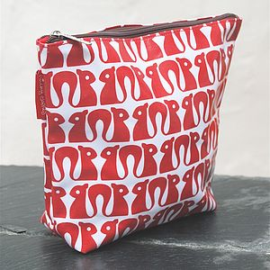 Squirrel Print Wash Bag - make-up & wash bags