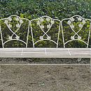 Wrought Iron Leaf Bench B202