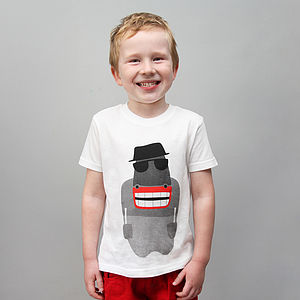 Child's Hidden London Bus T Shirt
