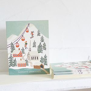 Christmas Scene Christmas Cards - cards & invitations