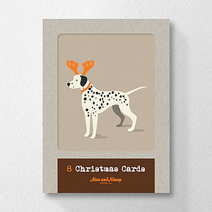 Christmas Dogs In Hats Cards - cards