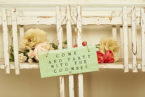 Come And Party Sign - outdoor wedding signs