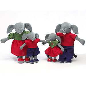 Fairtrade Handcrafted Elephant Family