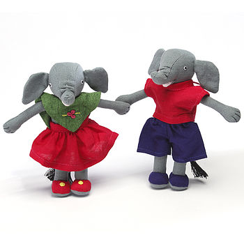 Fairtrade Handcrafted Small Elephant Pair