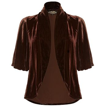 Chocolate Silk Velvet Tea Jacket