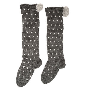 Wool Blend Spotty Socks - women's fashion