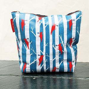 Woodpecker Print Wash Bag - wash & toiletry bags