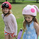 Child's Ladybird Hi Vis Helmet Cover