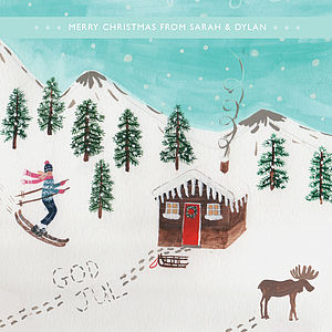 Personalised 'Nordic' Christmas Cards - cards