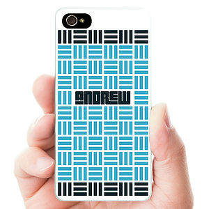 Personalised Parquet Pattern Hard Phone Case - men's accessories