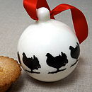 Handmade Wood Grouse Christmas Bauble