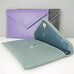 Personalised Leather Envelope Cover For Kindle