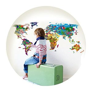 World Map Wall Sticker Game - toys & games