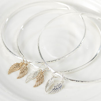 Heaven Sent Angel Wing Bangle