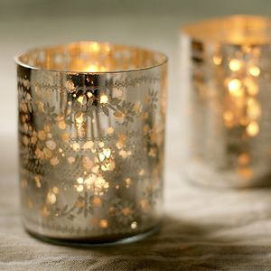Sparkling Silver Votive - lights & candles
