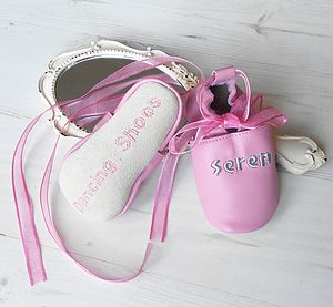 Personalised Baby's First Dance Shoes - socks, tights & booties
