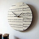 Handmade Circular Personalised Music Clock