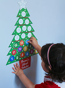 Personalised Advent Calendar Wall Sticker Set - christmas decorations
