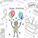 Children's Colour In Birthday Or Thank You Cards