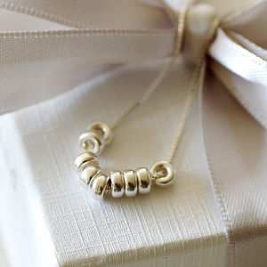 Silver Rings Necklace On Box Chain - children's accessories